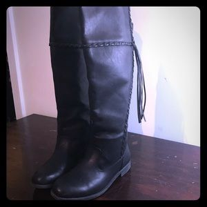 Black over the knee boots-size 7.5 Wide Calf